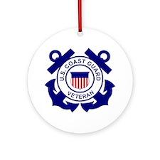 USCG-Veteran-Bonnie Round Ornament