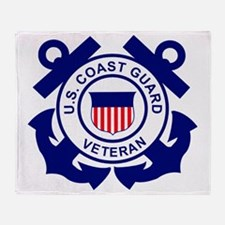 USCG-Veteran-Bonnie Throw Blanket