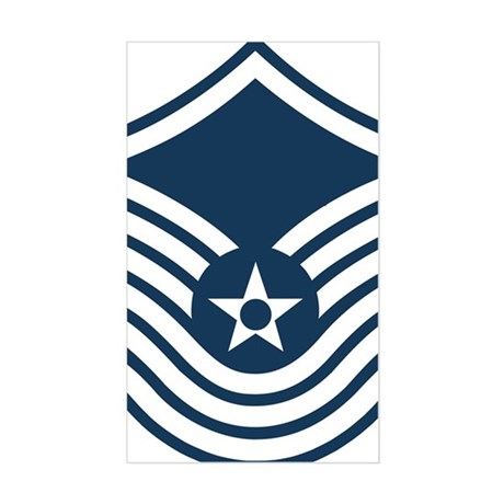 USAF-SMSgt-Old-Blue-4-Inches Sticker (Rectangle)