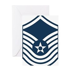 USAF-SMSgt-Old-Blue-4-Inches Greeting Card
