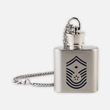 USAF-First-CMSgt-Old-Inverse-PNG Flask Necklace