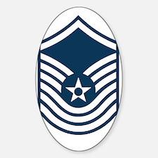 USAF-SMSgt-Old-Blue-PNG Sticker (Oval)