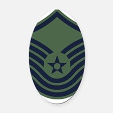 USAF-SMSgt-Old-Green Oval Car Magnet