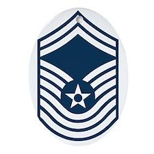 USAF-CMSgt-Old-Blue Oval Ornament