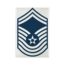 USAF-CMSgt-Old-Blue Rectangle Magnet