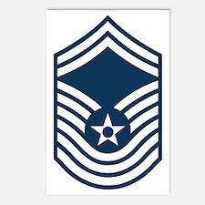 USAF-CMSgt-Old-Blue-PNG Postcards (Package of 8)