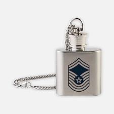 USAF-CMSgt-Old-Blue-PNG Flask Necklace