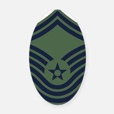 USAF-CMSgt-Old-Green Oval Car Magnet