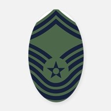 USAF-CMSgt-Old-Green-PNG Oval Car Magnet