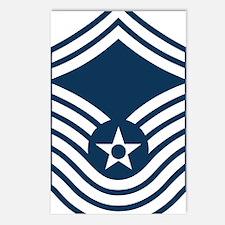 USAF-CMSgt-Old-Blue-4-Inc Postcards (Package of 8)