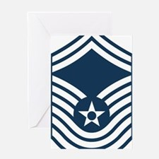 USAF-CMSgt-Old-Blue-4-Inches Greeting Card
