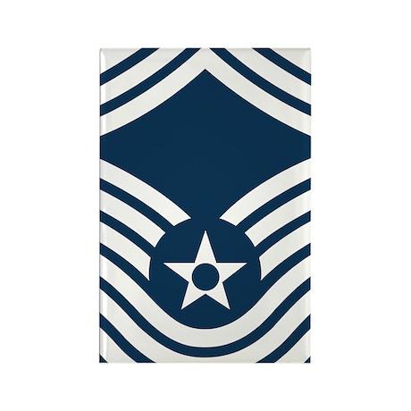 USAF-CMSgt-Old-Blue-4-Inches Rectangle Magnet