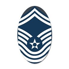 USAF-CMSgt-Old-Journal-2 35x21 Oval Wall Decal