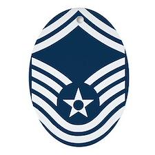 USAF-CMSgt-Old-Magnet-2 Oval Ornament