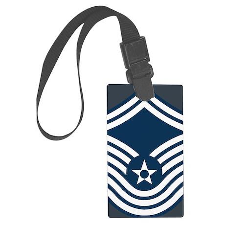 USAF-CMSgt-Old-Magnet-2 Large Luggage Tag