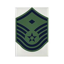 USAF-First-MSgt-Woodland Rectangle Magnet