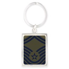 USAF-CMSgt-Old-Journal-5 Portrait Keychain