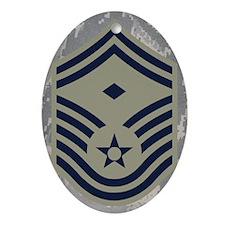 USAF-First-SMSgt-Mousepad-ABU Oval Ornament