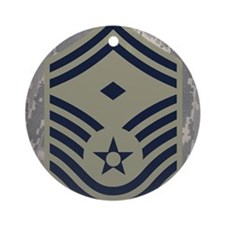 USAF-First-SMSgt-Mousepad-ABU Round Ornament