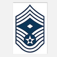USAF-First-CMSgt-Blue-PNG Postcards (Package of 8)