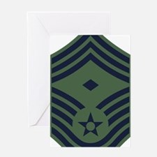 USAF-First-CMSgt-Woodland-PNG Greeting Card