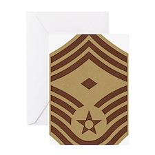 USAF-First-CMSgt-Desert-PNG Greeting Card