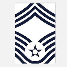 USAF-CMSgt-Inverse Postcards (Package of 8)