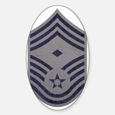 USAF-First-CMSgt-ABU-Fabric-PNG Sticker (Oval)