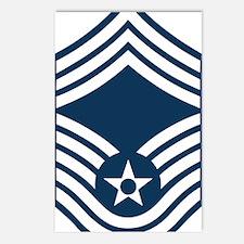 USAF-CMSgt-Blue Postcards (Package of 8)
