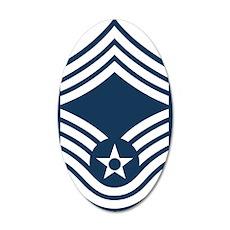 USAF-CMSgt-Blue 35x21 Oval Wall Decal