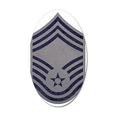USAF-CMSgt-ABU-Fabric-PNG 35x21 Oval Wall Decal