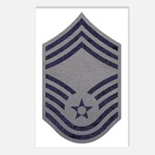 USAF-CMSgt-ABU-Fabric-PNG Postcards (Package of 8)