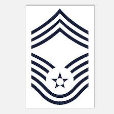 USAF-CMSgt-Inverse-PNG Postcards (Package of 8)