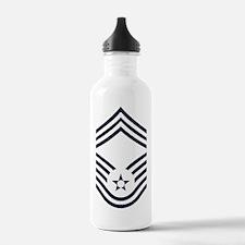 USAF-CMSgt-Inverse-PNG Water Bottle