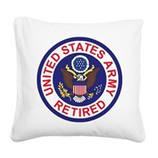 Army-Retired-Patch-8th-Infant Square Canvas Pillow