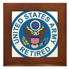Army-Retired-Patch-8th-Infantry-Div-Co Framed Tile