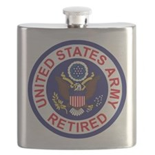 Army-Retired-Patch-8th-Infantry-Div-Colors Flask