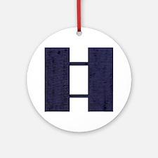 USAF-Capt-Midnight-Blue Round Ornament