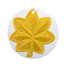 USAF-Maj-Gold Round Ornament