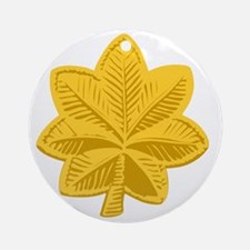 USAF-Maj-Gold Round Ornament