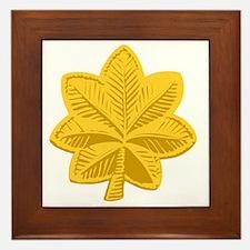USAF-Maj-Gold Framed Tile