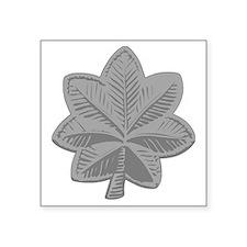 """USAF-LtCol-Silver Square Sticker 3"""" x 3"""""""