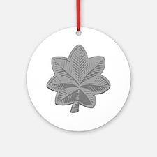 USAF-LtCol-Silver Round Ornament