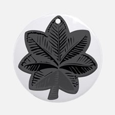 2-USAF-LtCol-Subdued-Gray Round Ornament