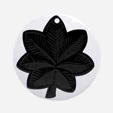 USAF-LtCol-Subdued-Black Round Ornament