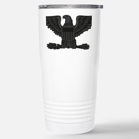 USAF-Col-Subdued-Black Stainless Steel Travel Mug