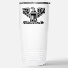 USAF-Col-Silver Stainless Steel Travel Mug