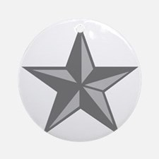 USAF-BG-Silver-PNG Round Ornament
