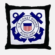 USCGAux-Logo-Bonnie Throw Pillow