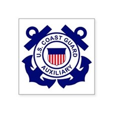 """USCGAux-Logo-Bonnie Square Sticker 3"""" x 3"""""""